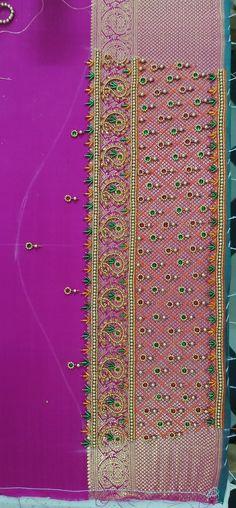 Black Blouse Designs, Best Blouse Designs, Hand Work Blouse Design, Wedding Saree Blouse Designs, Silk Saree Blouse Designs, Aari Embroidery, Embroidery Neck Designs, Mirror Work Saree Blouse, Baby Frocks Designs
