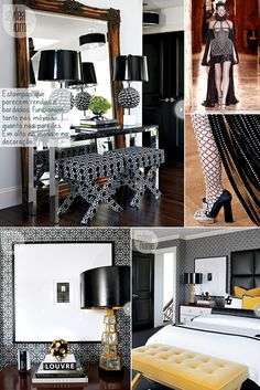 Decore com Gigi: PRETO & BRANCO | Na moda e na decoração.