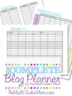 The Purposeful Mom: How to Create a Blogging Schedule: 10 Free Blog Planners {plus the Best Time of Day to Blog}