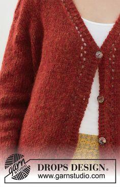 Robin song jacket / DROPS - free knitting patterns by DROPS design - Robin song jacket / DROPS – free knitting patterns by DROPS design - Poncho Knitting Patterns, Knitted Poncho, Free Knitting, Drops Design, Crochet Shawl Free, Knit Crochet, Lace Patterns, Crochet Patterns, Raglan Pullover