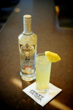 Iced cake vodka, pineapple juice and amaretto.....pineapple upside down cake!!