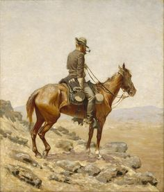 The Lookout Frederic Remington Wall Art Painting Print Canvas Giclee Small Frederic Remington, Gustav Klimt, Gaucho, Monet, Art Nouveau, Grand Prix, Google Art Project, National Gallery, Most Famous Paintings