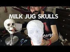 Cheap milk jug skull tutorial - easy way to make skulls - YouTube