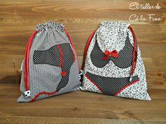Conjunto de bolsas de viaje para lencería y objetos de peluquería, perfecto para regalar a Mamá. #regalos #estuchescosmetica