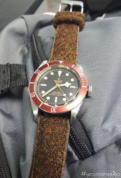 yeoman watch review - vario harris tweed strap