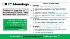 C2 EOI ingles: Monologue GM Foods