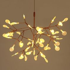 Just US$121.42, buy Art Creative Leaf Firefly  LED Chandelier 220V online shopping at GearBest.com Mobile.