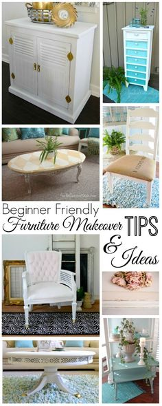 DIY painted furniture makeover ideas, techniques and tutorials | All beginner friendly.
