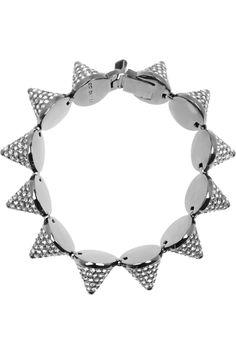 EDDIE BORGO  Gunmetal-plated crystal cone bracelet  $1,055
