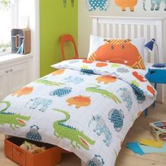 Ben de Lisi Home Designer kid's white 'funky creatures' bedding set- at Debenhams Mobile