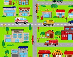 neighborhood fabric – Etsy ES