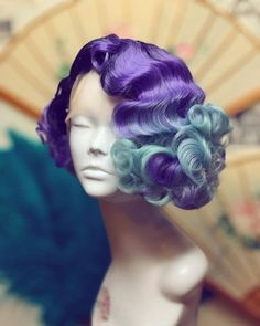 Retro Hairstyles, Pixie Hairstyles, Hairdos, Curly Hair Styles, Natural Hair Styles, Diy Wig, Cute Hair Colors, Long Wigs, Ombre Hair