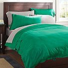 Classic Metro Duvet Cover + Pillowcase, Bright Green | PBteen