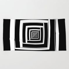 Oversized Beach Towels, Wear Sunscreen, Black And White Abstract, Meet The Artist, Good Mood, White Cotton, Swimming, Room, Swim