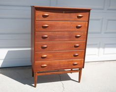 Danish Modern Kai Kristiansen Tall Chest in teak
