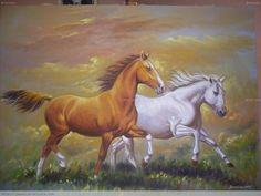 paisajes con caballos al oleo - Buscar con Google