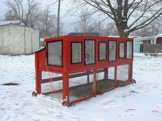 Rabbit hutch with electricty