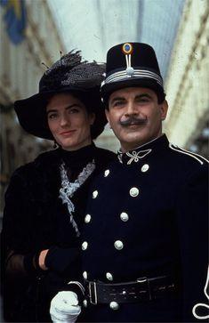 David Suchet as Hercule Poirot in an early episode of Agatha Christie's 'Poirot'.