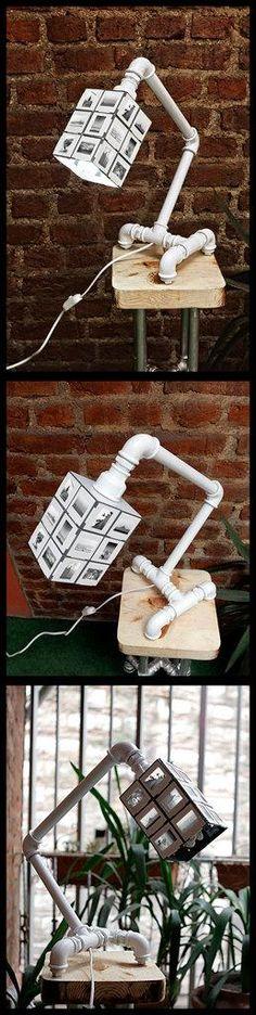 Tubo de fontanería lámpara de escritorio y accesorios con Original Estambul Deslice sombra