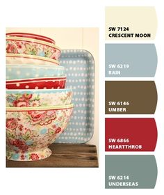 Chip It put in a pic of an item or fabric and it will auto create the paint color pallet for you. Color palette for the bedroom. Colour Schemes, Color Combos, Color Palettes, Room Colors, House Colors, Paint Color Pallets, Interior Paint Colors, Shabby Chic Kitchen, Kitchen Colors
