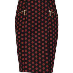 MICHAEL Michael Kors Polka-dot crepe mini skirt ($64) ❤ liked on Polyvore featuring skirts, mini skirts, burgundy, knee length skirts, michael michael kors skirt, polka dot skirt, michael michael kors and faux-leather skirts