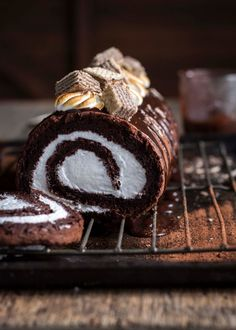#yumi-food: Chocolate Marshmallow Log| The Kate Tin