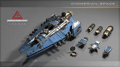 concept ships: Spaceship models by Igor Puskaric