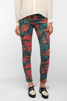 BDG Cigarette Mid-Rise Jean - Floral Print Available in Two Lengths!