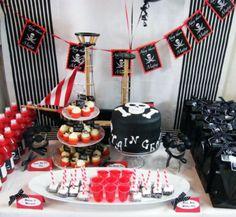 Пиратская вечеринка,оформление стола