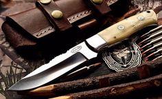 CFK USA Custom Handmade 1095HC MT. ADAMS Hunting Skinning Camel Bone EDC Knife