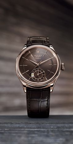 The Rolex Cellini Dual Time acquires a brown dial and strap.
