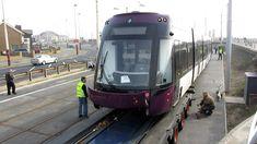 Bombardier Flexity 2 Tram - 011 Arrives in Blackpool. 23/03/12.