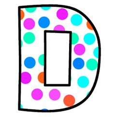 ArtbyJean - Paper Crafts: Alphabet Set - Polka Dots in bright magenta, shocking pink, blue, turquoise, aqua, and orange. Polka Dot Letters, Bubble Letters, Polka Dots, Magenta, Aqua, Pink Blue, Turquoise, Monogram Alphabet, Alphabet And Numbers