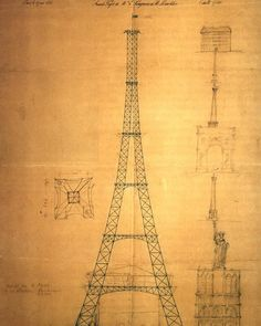 34.6K vind-ik-leuks, 177 reacties - History In Pictures (@historyphotographed) op Instagram: 'The first drawing of the Eiffel Tower by Maurice Koechlin, 1883. Including a size comparison with…'
