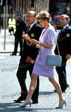 Princess Diana w/Bodyguard, Barry Mannakee behind her