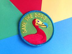 Save The Dodo Iron On Patch, Cute Embroidered Patch, hello DODO, Funny Bird…