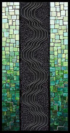 Impromptu in Green - Jacqueline Iskander mosaic