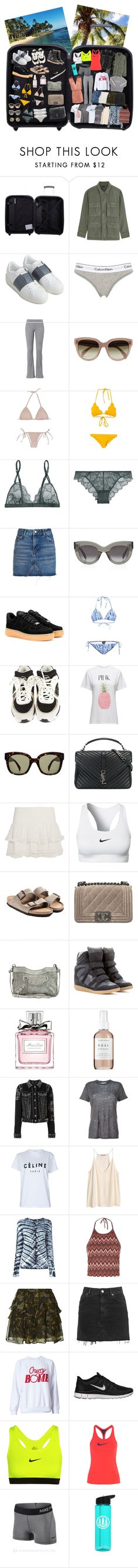 """""""In my suitcase!"""" by maya-isako ❤ liked on Polyvore featuring Tripp, Citizens of Humanity, Valentino, Calvin Klein Underwear, CÉLINE, Marysia Swim, La Perla, Topshop, NIKE and Proenza Schouler"""