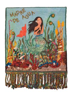 Madre de Agua (Yemaya). Mixed Media Quilt by Teresa Vega