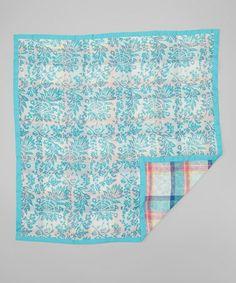 Look at this #zulilyfind! Turquoise Goa Security Blanket by Rajer Rabbit #zulilyfinds