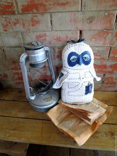 Купить белая Сова хранительница.авторская игрушка сова в подарок.owl toy - совушка