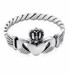 Irish Claddagh Ring - Sterling Silver