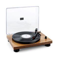 auna TT Classic WD Retro Plattenspieler USB Line Out Lautsprecher Holz Furnier Bon Plan Black Friday, Retro Record Player, Retro Vintage, Der Computer, Belt Drive, Stereo Speakers, Wood Veneer, Retro Design, Vinyls