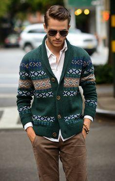 Snowy weekend cabin sweater becomes street wear. Love.
