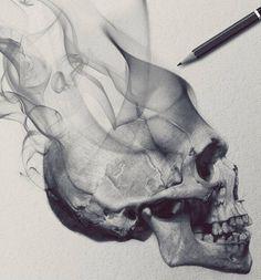 Skull Tattoo Design, Tattoo Sleeve Designs, Skull Tattoos, Body Art Tattoos, Fake Tattoo Sleeves, Best Sleeve Tattoos, Tattoo Sleves, Skeleton Drawings, Skeleton Art