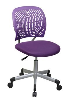 Designer Purple Office Chair