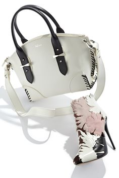 Add just the right amount of flare with spring shoes & bags by Alexander McQueen.