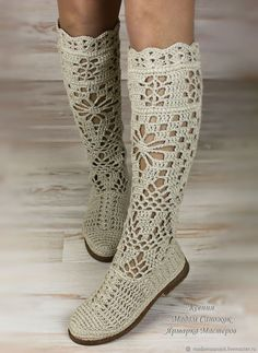 Boots women's 'Pelagia'. My Livemaster.Shoes custom, shoes boho, boots flax Source by kevseryoldas Crochet Sandals, Crochet Shoes, Crochet Slippers, Boots Boho, Boho Shoes, Crochet Boots Pattern, Shoe Pattern, Tongs Crochet, Crochet Flip Flops