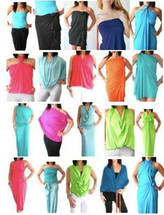 Hard to believe, I know, but these are ALL the same garment! One size, 3 different lengths, ENDLESS style options. Convertible Clothing, Convertible Dress, Simple Style, Style Me, Minimalist Packing, Minimalist Closet, Diy Clothes, Clothes For Women, Travel Wear