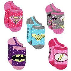 DC Comics Justice League Girls Womens Multi Pack Socks (Toddler/Little Kid/Big Kid/Teen/Adult) Girls Socks, Baby Socks, Diaper Bag, Toddler Girl Gifts, Black Baby Girls, Kids Clothing Brands, Patriotic Outfit, Cute Socks, Women's Socks